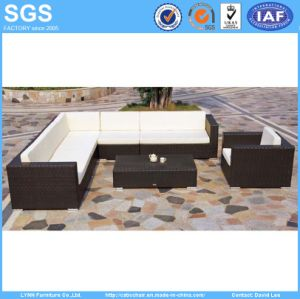 Modern Resort Hotel Furniture PE Rattan Cube Sofa Set pictures & photos