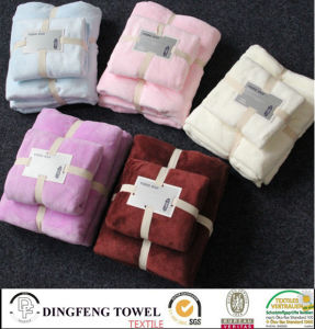 2016 Hot Sales 100% Cotton Velour Super Soft Baby Bath Towel Set Df-S286 pictures & photos