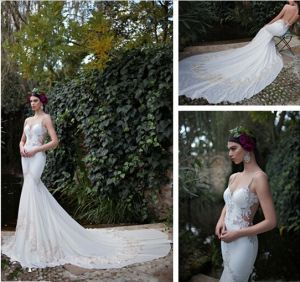 Backless Bridal Wedding Gown Vestidos Chiffon Lace Wedding Dress W152122 pictures & photos