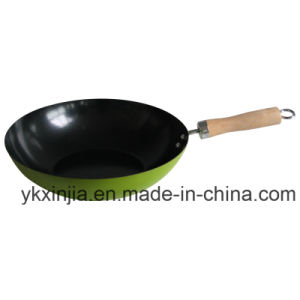 Cookware Colorful Carbon Steel Wok with Non-Stick Coating Kitchenware pictures & photos