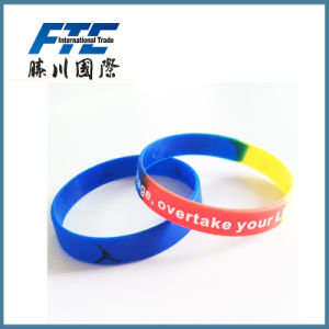 Logo Printed Promotional Silicone Bracelet Band for Part pictures & photos