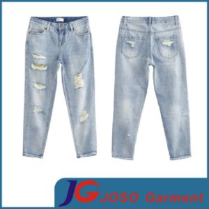 Light Wash Women Broken Jeans (JC1228) pictures & photos
