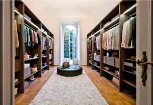 Modern Luxury Wood Grain Walk-in Bedroom Closet Wardrobe pictures & photos