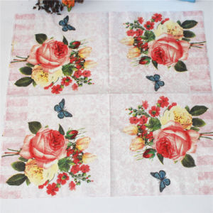 Flower Paper Napkin Party Products pictures & photos