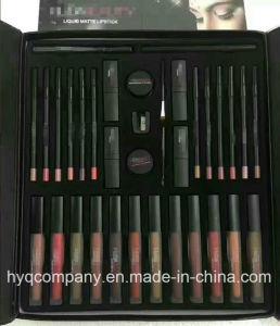 Hb 35 in 1 Big Makeup Set Liquid Matte Lipstick Lipliner Lipgloss Eyebrow Cream Makeup Brush Set pictures & photos