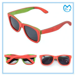 Handmade Cheap Wooden Bamboo Fashion Skateboard Wood Sunglasses pictures & photos