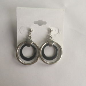 Simple Geometric Circle Metal Hollowed-out Earrings Jewelry