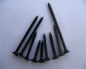 Black Drywall Screw/Screw Drywall Black Phosphate Bugle Head pictures & photos