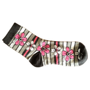 Women Fashion Plain Socks with Cotton and Spandex (wfc-02) pictures & photos