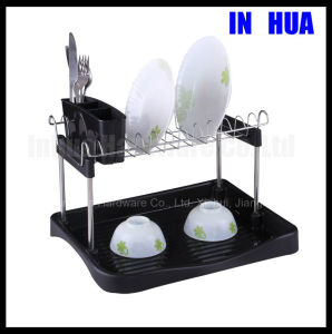 Two Tries High Quality Chrome Plated Drying Dish Rack