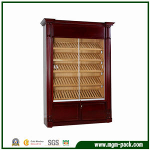 Commercial Cherry Wood Cigar Cabinet with Glass Doors pictures & photos