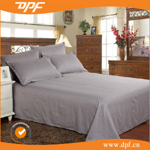 Hotel Bed Sheets & Pillowcases, Cotton White Saten Stripe Bed Sheetset pictures & photos