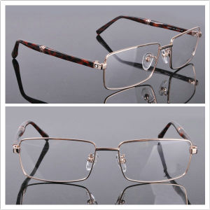 Metal Mix Acetate Men′s Frame Full Rim Eye Glass (0451) pictures & photos