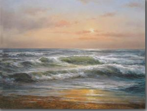 Oil Painting of The Last Light of The Day pictures & photos