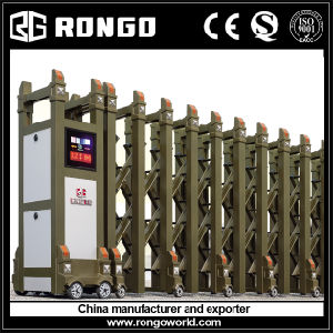Aluminium Motorized Factory Collapsible Gates pictures & photos