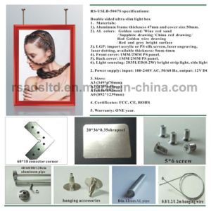 LED Slim Light Box Sign with Ce Certificate pictures & photos