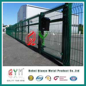 Welded Fence/Welded Mesh Fence /Polyester Powder Coated Welded Fence/Green Color pictures & photos