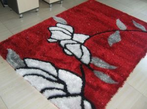 OEM Korean Silk Shaggy Rugs Ksm0110 pictures & photos