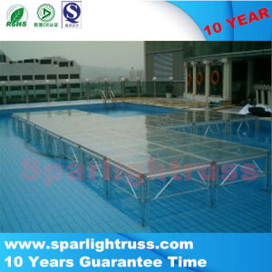 Nice Plexiglass Stage LED Stage for Wedding, Simple Wedding Stage pictures & photos