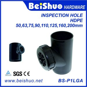 HDPE Vertical Drain Sewer Pipe Fitting with Inspection Hole pictures & photos