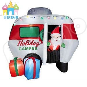 Christmas Inflatable Santa Claus Driving Snowmobile Sleigh Sled pictures & photos