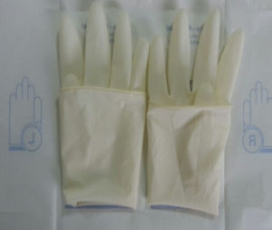 Sterile Surgical Latex Glove with or Without Powder pictures & photos