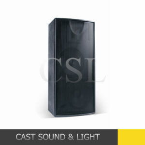 "Dual 15"" 800W Professional Wedding/Mall/Square Loudspeaker with Wheels pictures & photos"