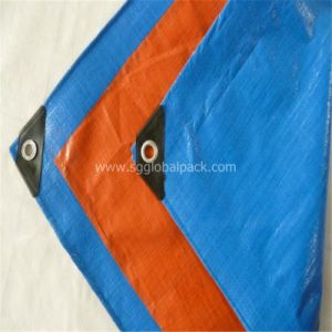 PE Tarpaulin by Sheet with Blue and Orange Color pictures & photos