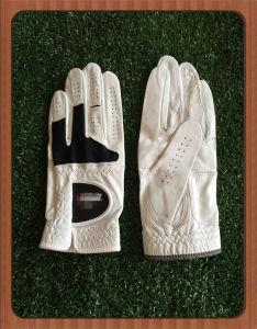 Pure Touch Premium Cabretta Leather Golf Glove with Color Spandex