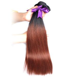 Factory Wholesale Brazilian Hair 100% Human Hair Extensions Bundles Ombre 1b/33 16inch pictures & photos