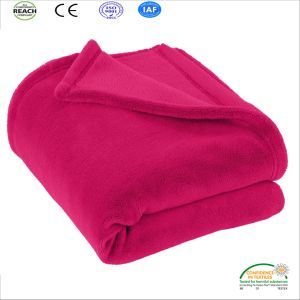 Big Size Pink Roseo Purple Green Navy Coral Fleece Blanket pictures & photos