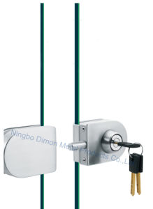 Dimon Sliding Glass Door Lock Single Door Single Cylinder Central Lock (DM-DS 65-7B) pictures & photos