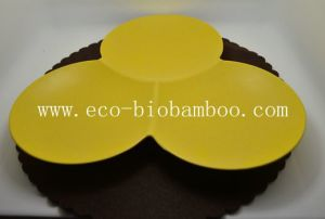 (BC-P1004) Multifuction Bamboo Fiber Flower Plate pictures & photos