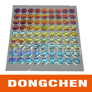 Holographic Clothing Label Holographic Tinsel 3D Holographic Stickers pictures & photos