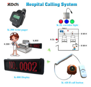 Hot Sell Made in China Koqi Portable Pagers with Red Light Wireless Nurse Calling Systems pictures & photos