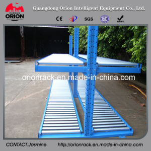 Storage Steel Self Slide Gravity Rack System pictures & photos