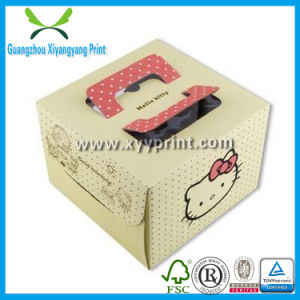 Custom White Kraft Paper Cake Packaging Box pictures & photos