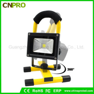 LED 10W Spotlights Work Lights Outdoor Camping Lights with Rechargeable Lithium Batteries pictures & photos