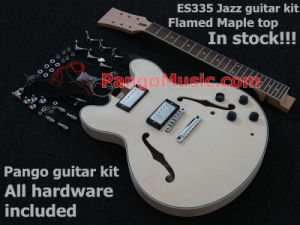 Pango Es335 Jazz DIY Electric Guitar Kit / DIY Guitar with Flamed Maple (PES-335K) pictures & photos