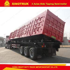 80t Tipping Semi Trialer Box Tipping Trailer pictures & photos
