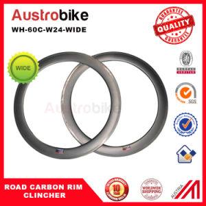 60c Wheel Clincher Rim 60c Bike Carbon New Aero China Road Carbon Wheelset pictures & photos