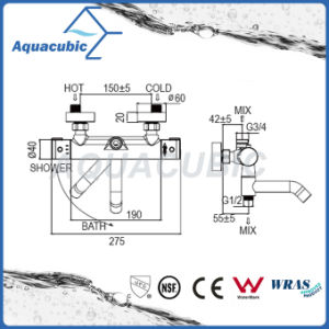 Bathroom Bath Thermostatic Pressure Balance Faucet (AF4323-7) pictures & photos