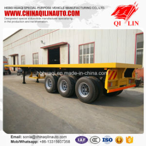 2017 Hot Sale 3 Axles 40FT Container Flatbed Utility Semi Trailer pictures & photos