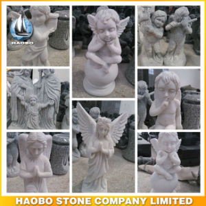 Wholesale Angel and Cherub Sculptures Stone Carvings pictures & photos