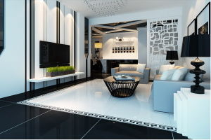 House Decoration Super White Super Black Polished Porcelain Floor Tile pictures & photos