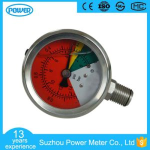 2′′50mm Full Stainless Steel Glycerin Filled Vacuum Manometer pictures & photos