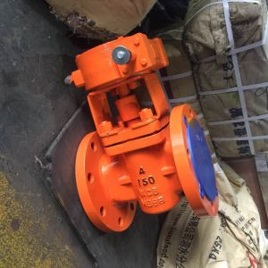 4in Fange End Lining PFA Plug Valve pictures & photos