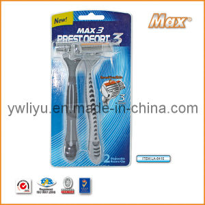 High Quality Triple Blade Stainless Steel Disposable Razor (LA-8410) pictures & photos