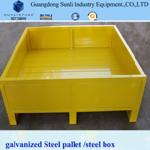 Galvanized Foldable Steel Box Pallet Container pictures & photos