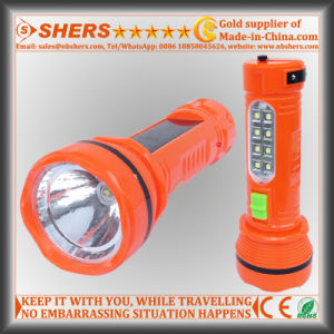 Solar 1W LED Torch with 8 LED Desk Lamp (SH-1936) pictures & photos
